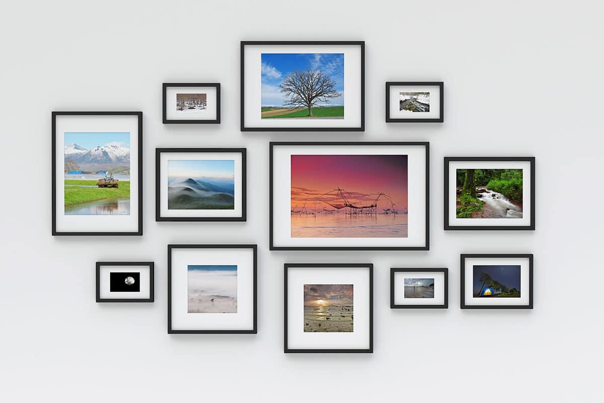 photos encadrées au mur impression numérique